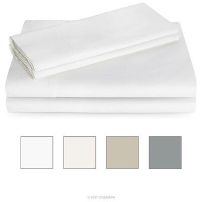 600 Thread Count Sheet Set Color: White, Size: King