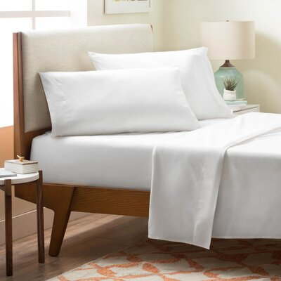 4 Piece Polyester Sheet Set Size: Twin, Color: White