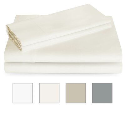 600 Thread Count Sheet Set Color: Ivory, Size: Twin