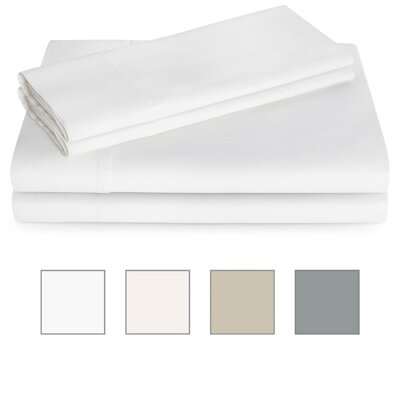 600 Thread Count Sheet Set Color: White, Size: Twin