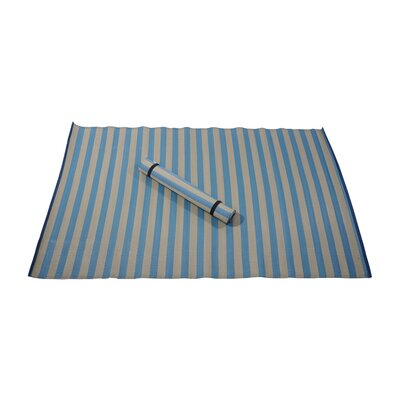 Maine Street Living Biscay Bay Blue Rugby Stripe Indoor/Outdoor Area Rug - Rug Size: 5' x 8' at Sears.com