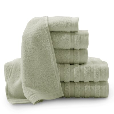 Pure Elegance Turkish 6 Piece Towel Set Color: Sage