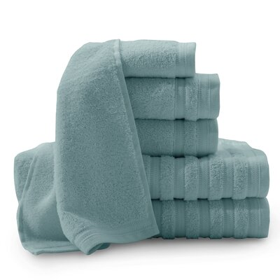 Fortin Pure Elegance Turkish 6 Piece Towel Set Color: Smoke Blue