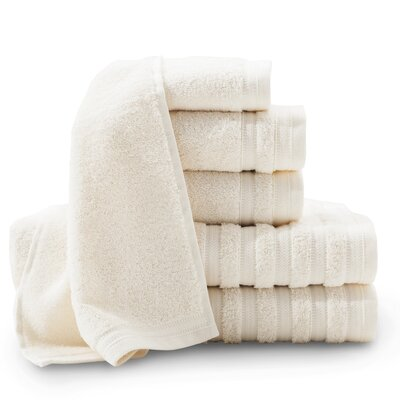 Pure Elegance Turkish 6 Piece Towel Set Color: Rich cream