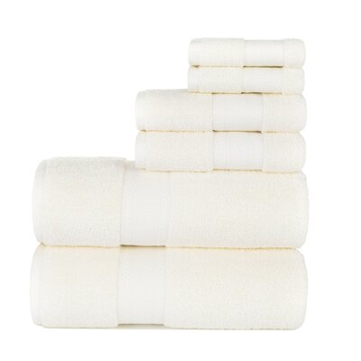 Fossett 6 Piece Cotton Towel Set Color: Ivory