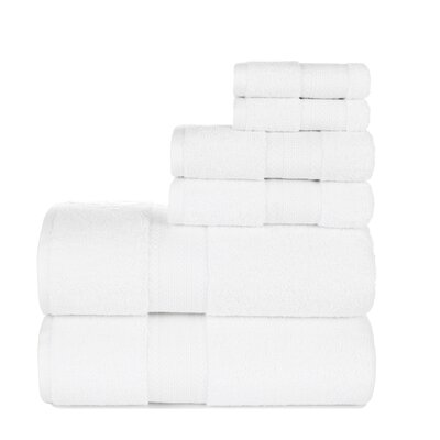 Graco 6 Piece Cotton Towel Set Color: White