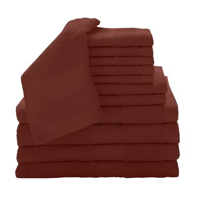 Solid 12 Piece Towel Set Color: Paprika