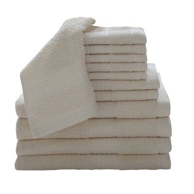 Solid 12 Piece Towel Set Color: Neutral