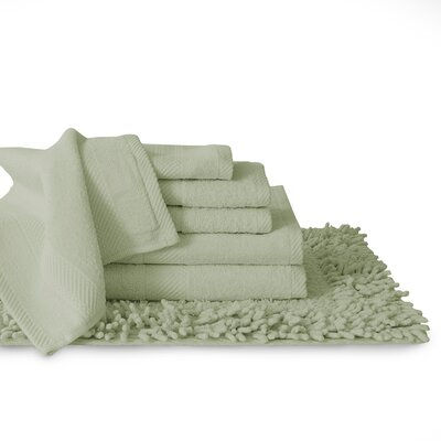 7 Piece Towel Set Color: Laurel Green