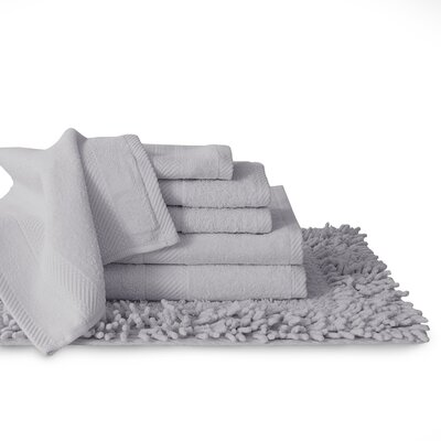 7 Piece Towel Set Color: Silver Grey