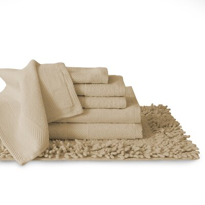 7 Piece Towel Set Color: Taupe