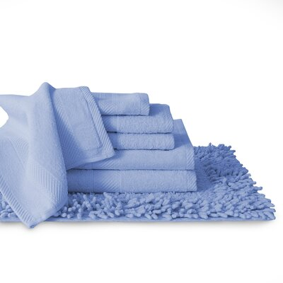 7 Piece Towel Set Color: Ocean Blue