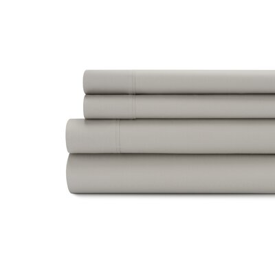 Tamarack 400 Thread Count Cotton Satin Sheet Set Color: Platinum, Size: Queen