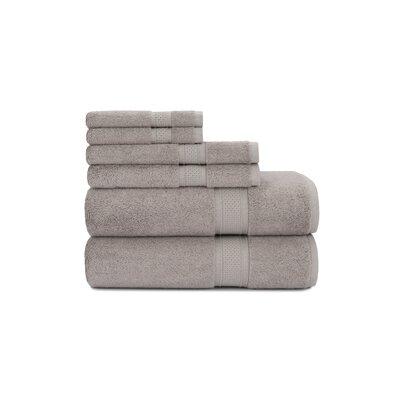 Luxury Rayon 6 Piece Towel Set Color: Taupe Splash