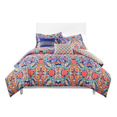 Chakra Rosal Azul Reversible Comforter Set Size: King