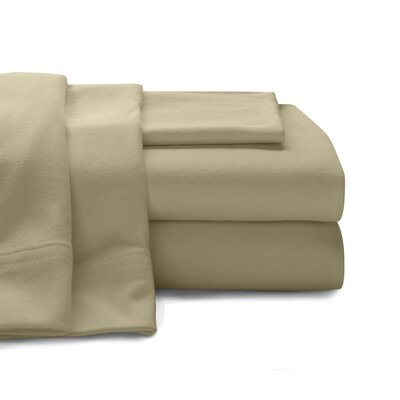 Mccoy Super Soft Jersey 100% Cotton Sheet Set Size: Full, Color: Taupe