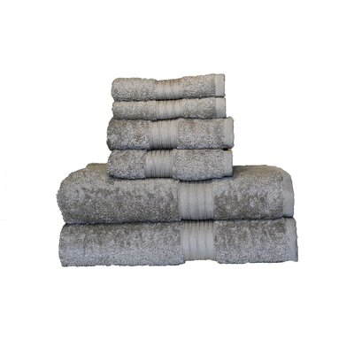 Egyptian Majestic 6 Piece Towel Set Color: Ice Gray
