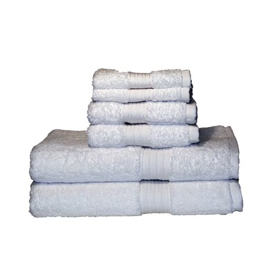 Egyptian Majestic 6 Piece Towel Set Color: White