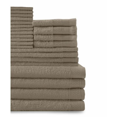 24 Piece Towel Set Color: Taupe