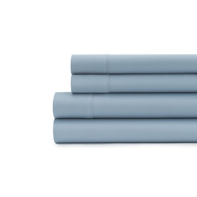 Hagins 300 Thread Count Sheet Set Size: Twin, Color: Blue