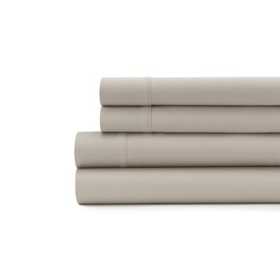 Hagins 300 Thread Count Sheet Set Size: Twin, Color: Taupe
