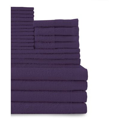 24 Piece Towel Set Color: Deep Plum
