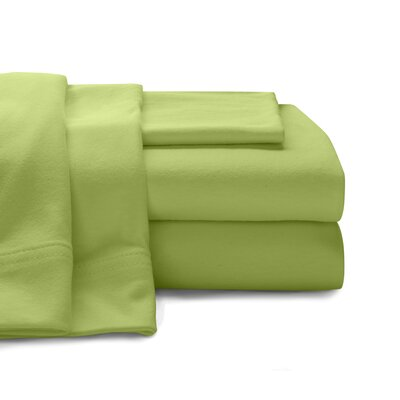 Mccoy Super Soft Jersey 100% Cotton Sheet Set Color: Lime, Size: Queen