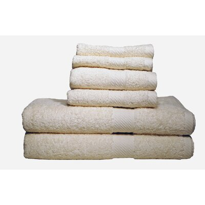 Ultra Soft Absorbent 6 Piece Towel Set Color: Ivory