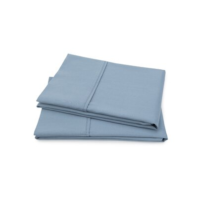 Hartsfield Luxury Pillow Case Size: Standard, Color: Blue