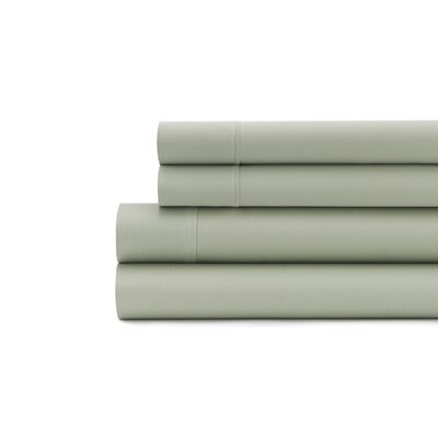 Hagins 300 Thread Count Sheet Set Size: Twin, Color: Sage