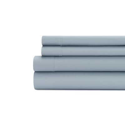 Tamarack 400 Thread Count Cotton Satin Sheet Set Color: Blue dusk, Size: Queen