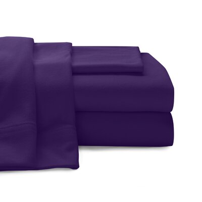 Mccoy Super Soft Jersey 100% Cotton Sheet Set Size: Queen, Color: Purple