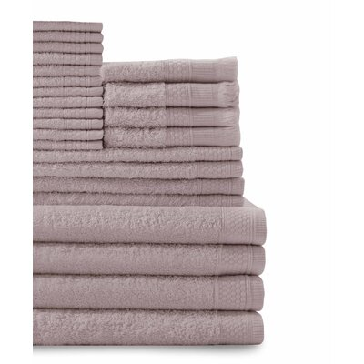 24 Piece Towel Set Color: Rose Dust