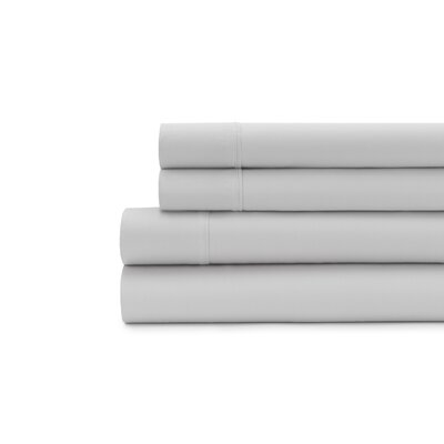 Hagins 300 Thread Count Sheet Set Size: Twin, Color: Silver