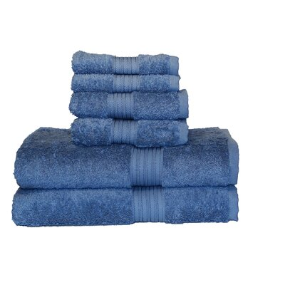 Egyptian Majestic 6 Piece Towel Set Color: Serenity Blue