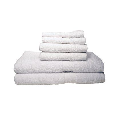 Ultra Soft Absorbent 6 Piece Towel Set Color: White
