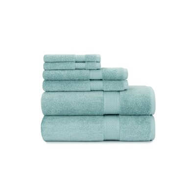 Luxury Rayon 6 Piece Towel Set Color: Seafoam Green