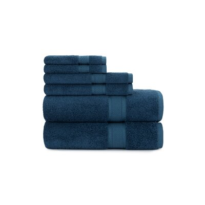 Luxury Rayon 6 Piece Towel Set Color: Baltic Sea