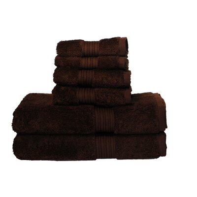 Egyptian Majestic 6 Piece Towel Set Color: Brown Sugar
