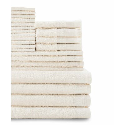 24 Piece Towel Set Color: Ivory