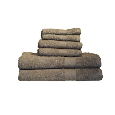 Ultra Soft Absorbent 6 Piece Towel Set Color: Mocha