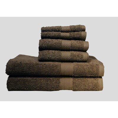 Ultra Soft Absorbent 6 Piece Towel Set Color: Cocoa