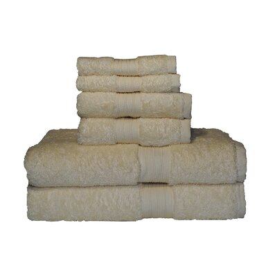 Egyptian Majestic 6 Piece Towel Set Color: Rich Cream