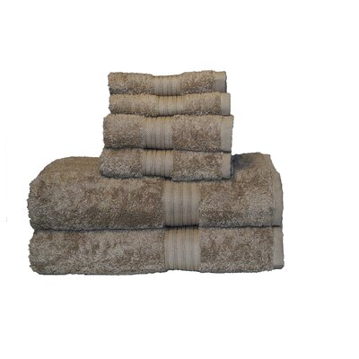 Egyptian Majestic 6 Piece Towel Set Color: Sandstone