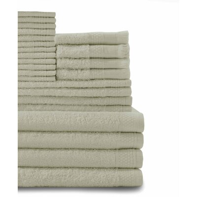 24 Piece Towel Set Color: Thyme Green