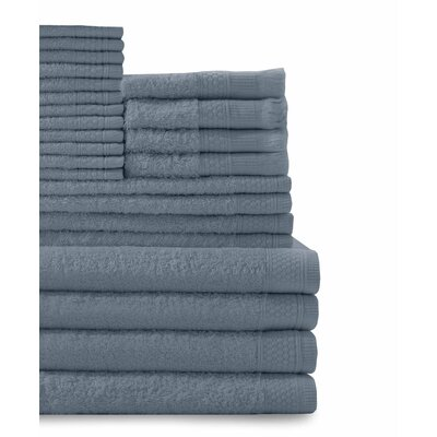 24 Piece Towel Set Color: Smoke Blue