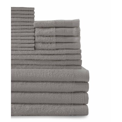 24 Piece Towel Set Color: Graphite Gray