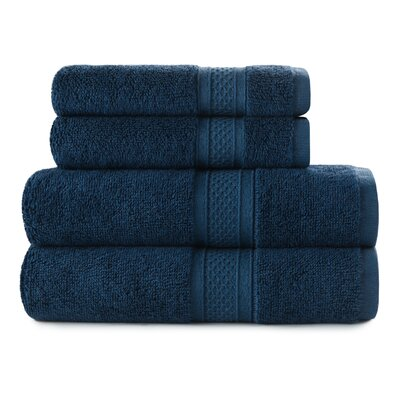 Luxury Rayon 4 Piece Towel Set Color: Baltic Sea