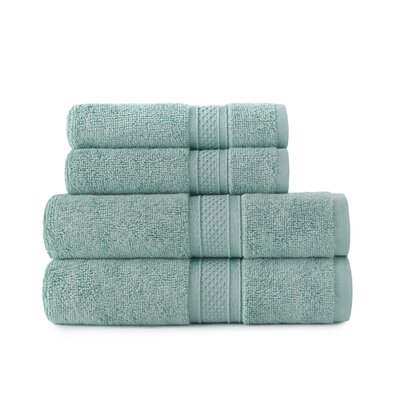 Luxury Rayon 4 Piece Towel Set Color: Seafoam Green