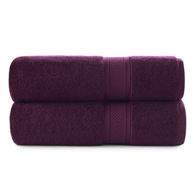 Luxury Rayon Bath Towel Set Color: Purple Oxford